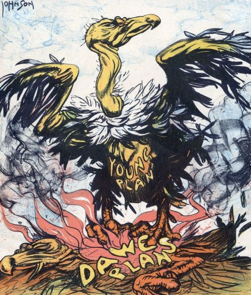 The Young Plan rises like a phoenix/vulture from the ashes of the Dawes plan (the US's previous attempt to ease Germany's economy). 1929