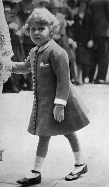 The young Princess Elizabeth at the Trooping of the Colour.  1931