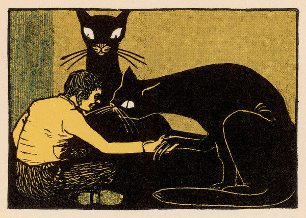 THE STORY OF THE YOUTH WHO WENT FORTH TO LEARN WHAT FEAR WAS - the boy with the giant black cats