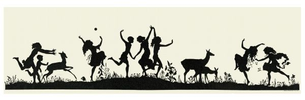 Youthful mirth silhouette Date: 1913