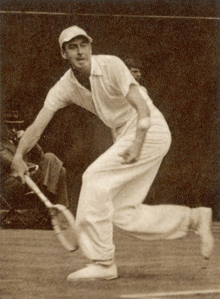 Yvon Petra (1916-1984), French tennis player, winning the Men's Singles World Championship in 1946 at Wimbledon. He defeated the Australian Geoffrey Brown in the finals