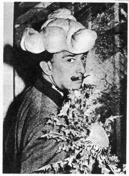 The surrealist artist, Salvador Dali (1904-1989), surprised even guests to his house at Port Lligat in Spain, when he appeared wearing a magnificent tricorne hat - fashioned out of pastry