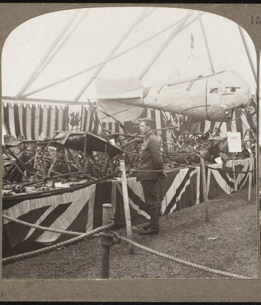 An observation car from a Zeppelin brought down by British airmen at Cuffley in Essex