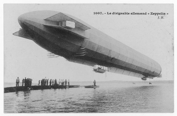 The first Zeppelin, LZ-I, on the Bodensee