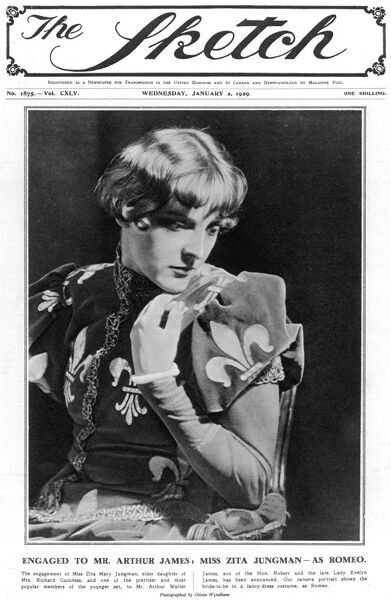 Front cover photograph of Zita Jungman in fancy dress costume as Romeo