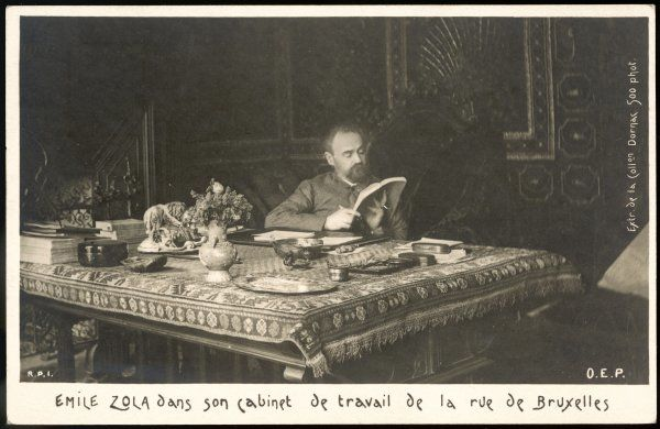 EMILE ZOLA in his work-room