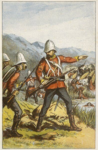 Colour Sergeant Booth of the 80th Regiment wins a Victoria Cross at Intombi River