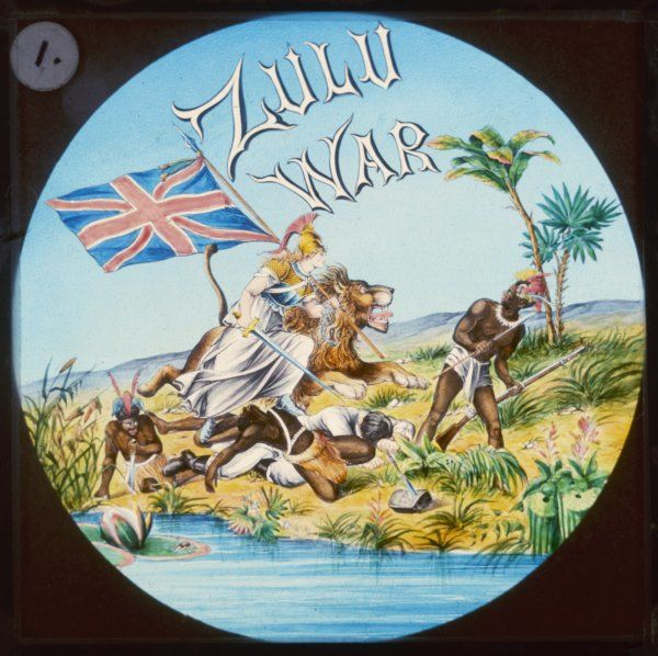 British Imperialism symbolically represented at the time of the Zulu War