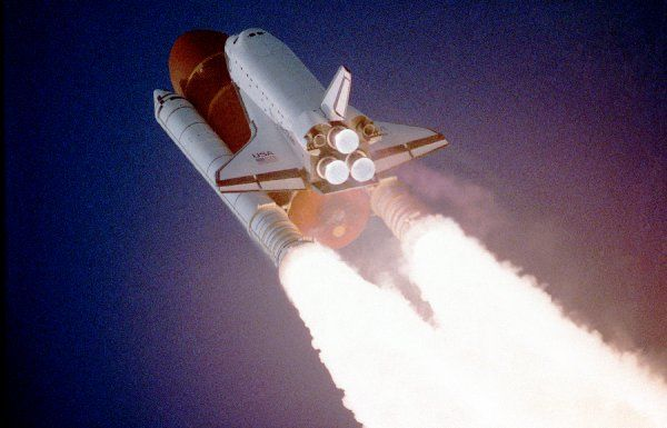 Space Shuttle Atlantis takes flight on its STS-27 mission on December 2, 1988, 9:30 a.m. EST, utilizing 375, 000 pounds thrust produced by its three main engines. The STS-27 was the third classified mission dedicated to the Department of Defense (DoD)