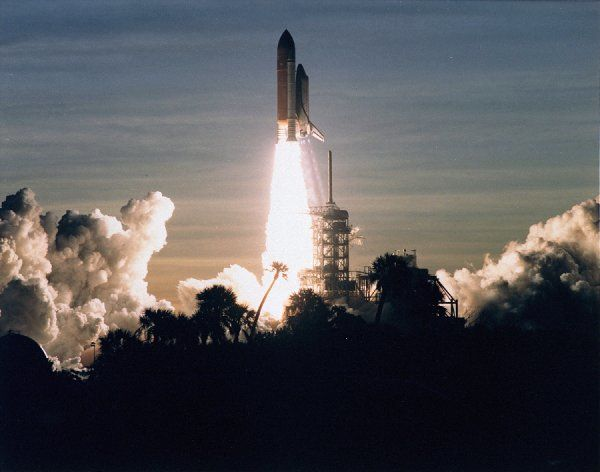 A golden new era in space cooperation begins with a flawless countdown and the ontime liftoff of the Space Shuttle Discovery on Mission STS-60