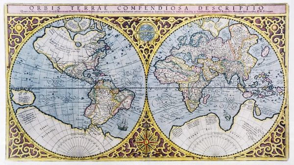 16th century world map world map 16th century dutch map of the world map 16th century dutch map of the western left and eastern gumiabroncs Choice Image