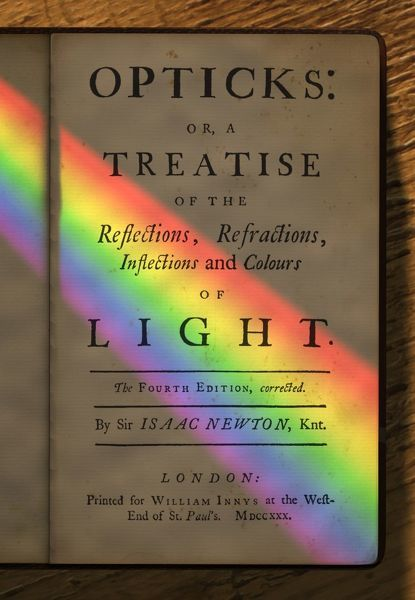 Newton's Opticks with colour Spectrum