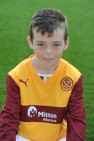 12/08/13 Motherwell Youth team. Nathan Miller