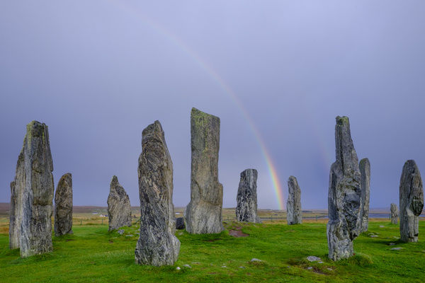 Scotland, The Isle of Lewis, Callanish Stone Circle. Callanish Stone Circle, a famous neolithic monument located on the Isle of Lewis in the chain of islands known as the Outer Hebrides