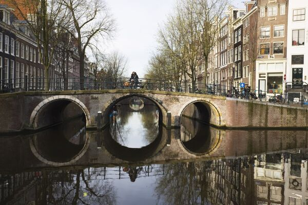 Canal bridge, Amsterdam, Netherlands, Europe