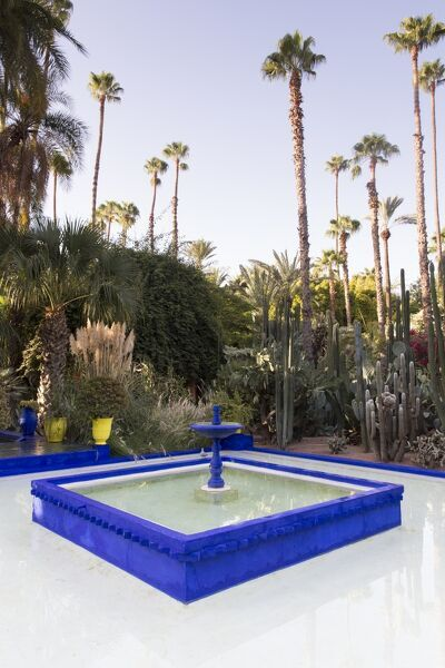 Fountain Jardin Majorelle Owned By Yves St Laurent Marrakech