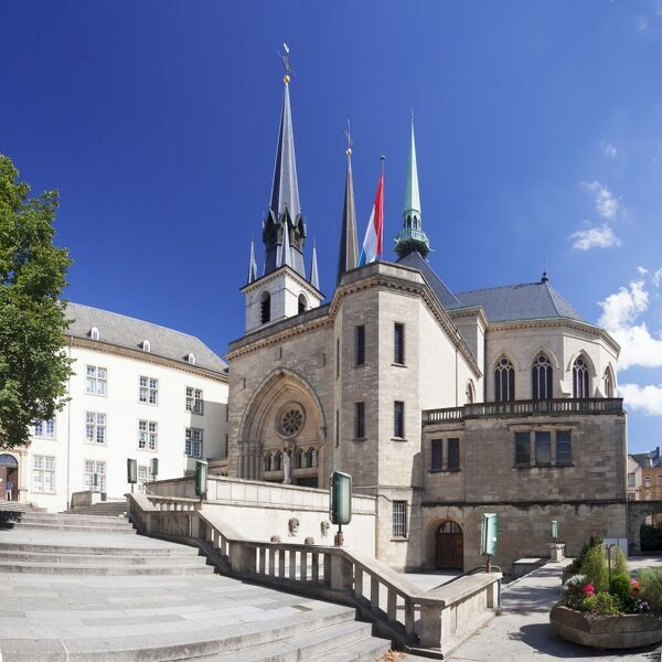 Notre Dame Cathedral, Luxembourg City, Grand Duchy of Luxembourg, Europe