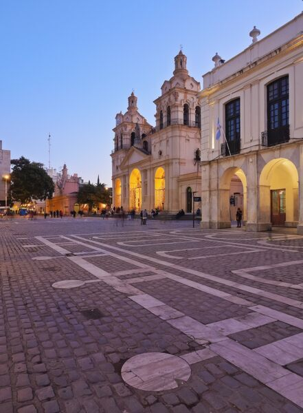 twilight view of the cathedral of cordoba cordoba argentina south