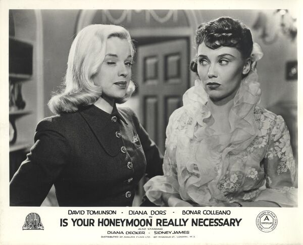 Diana Dors and Diana Decker in Is Your Honeymoon Really Necessary (1953)