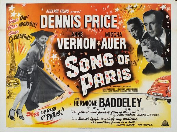 Denis Price Anne Vernon Mischa Auer Hermione Baddeley AKA Bachelor in/of Paris, Clementine