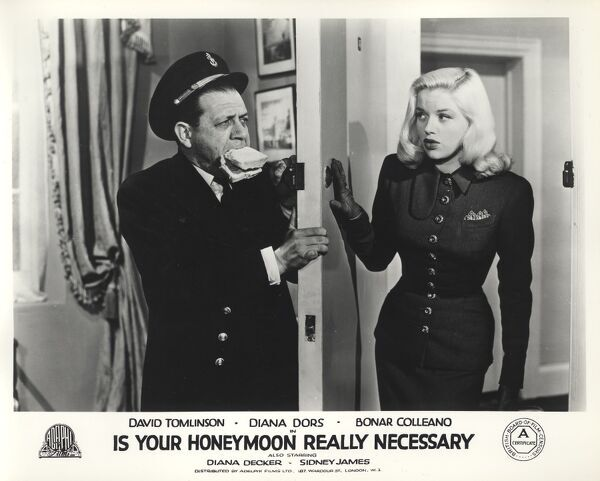 Sid James and Diana Dors in Maurice Elvey's Is Your Honeymoon Really Necessary (1953)