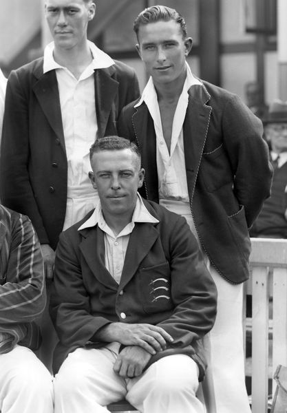 Cricket - 1936 season - Middlesex County Cricket Club Team Group Standing: Denis Compton (also played football for Arsenal and also an England wartime international). Sitting: Joe Hulme (also played in four FA Cup finals for Arsenal, Blackburn Rovers