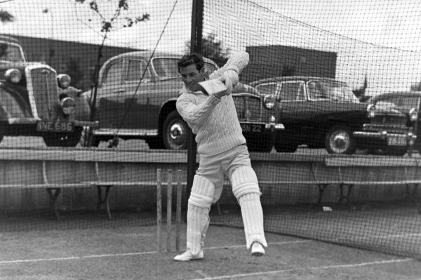 Cricket - 1960 County Championship - Lancashire vs. Worcestershire [Match Drawn] Lancashire's Geoffrey Clayton bats in the nets at Old Trafford. The wicket-keeper played 183 first-class games for the county between 1959 and 1964, with 422 dismissals