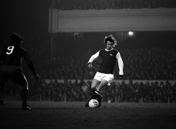 Football Liam Brady - Arsenal Arsenal v Barcelona  George Armstrong Testimonial - Highbury.  12/03/1974 Credit: Colorsport / Andrew Cowie