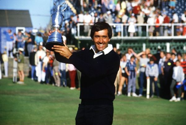 Golf Seve Ballesteros (Spain) with the trophy.  Winner of the British Open Golf Championships 1984  22/07/1984 Credit : Colorsport