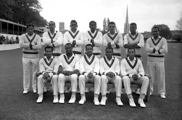 Cricket - 1966 West Indies Tour of England West Indies Team Group Back, l-r: Basil Butcher, Jackie Hendricks, Michael Carew, Rawle Brancker, Peter Lashley, Seymour Nurse, Joe Solomon. Front: Rohan Kanhai, Wes Hall, Garry Sobers, Conrad Hunts