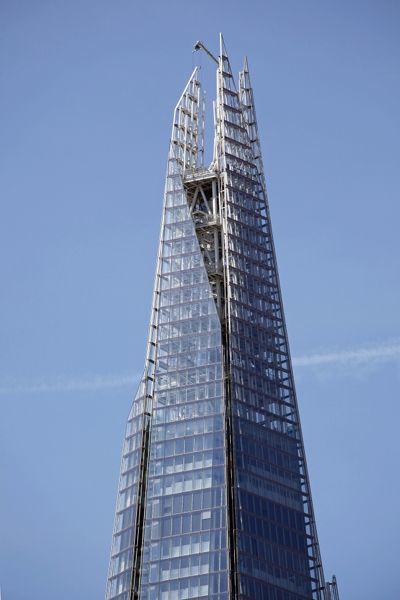 The Shard skyscraper aka the London Bridge Tower, London, England is currently the tallest building in the EU