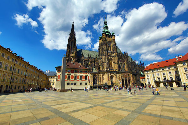 St. Vitus Cathedral, in the Prague Castle Complex in Prague, Czech Republic