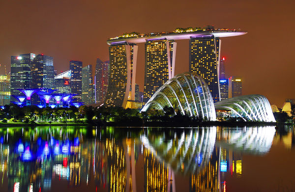 supertrees gardens by the bay marina bay sands hotel singapore - Garden By The Bay Marina Bay Sands