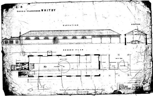 LNER - Whitby Goods Warehouse - As Existing (1911) Plan, Section ...