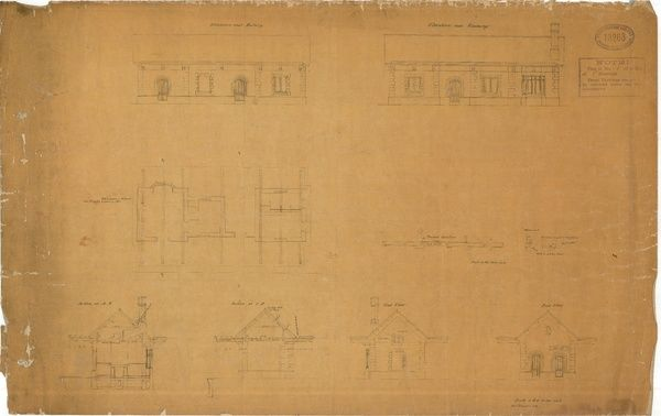 Drawings 1 of 5 Elevations, Sections and End View of Station
