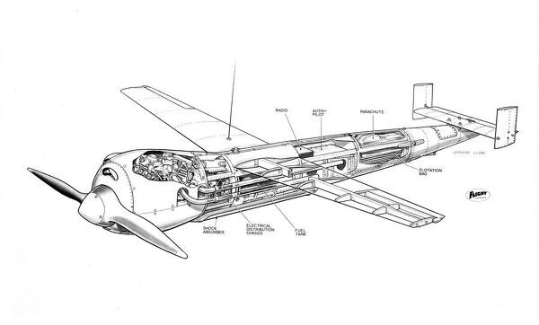 ML Aviation Picador Cutaway Drawing Also known as the 'Guided Midget'