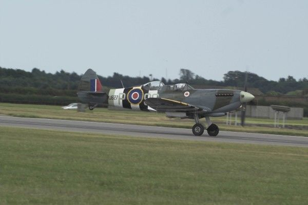 The mk19 spitfire about to take off (press day Waddington airshow 2006)