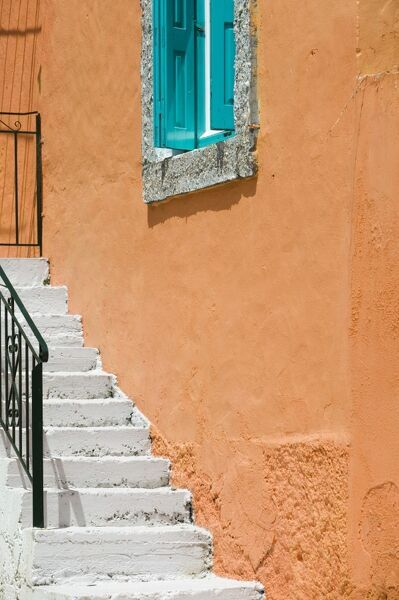 Building Detail, Pythagorio, Samos Island, Greece GREECE-Northeastern Aegean Islands-SAMOS-Pythagorio: Building Detail