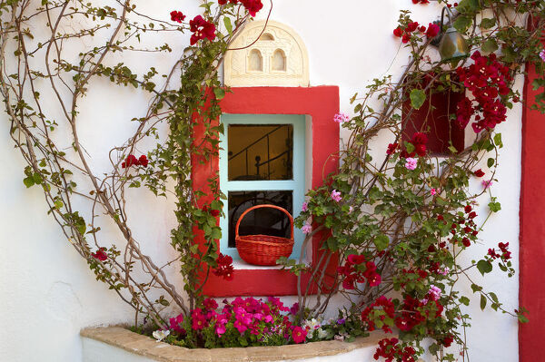 Colourful Window Detail, Oia, Santorini, Greece