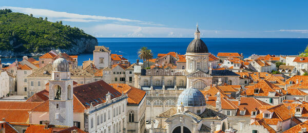 Croatia, Dubrovnik, View of the rooftops
