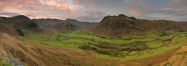 Langdale Pikes From Side Pike Lake District Cumbria