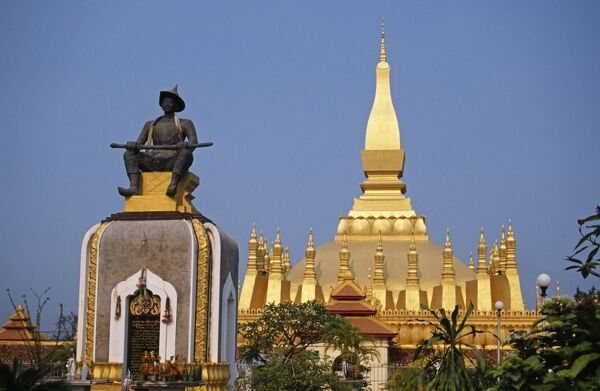 Laos, Vientiane Prefecture, Vientiane. Pha That Luang (Great Stupa)