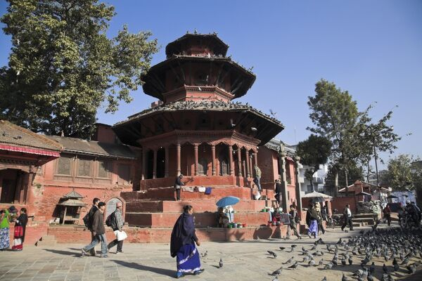 Nepal, Kathmandu, Hanuman-Dhoka Durbar Square, (UNESCO World Heritage Site), Chyasin Dega (temple of Vansagopal) NEPAL, Kathmandu, Hanuman-Dhoka Durbar Square, (World Heritage Site) Chyasin Dega - the temple of Vansagopal (which means Krishna in th