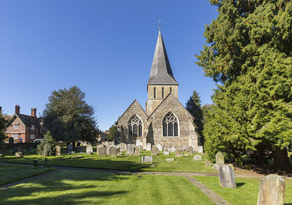 Parish Church in Shere - Location for the film 'The Holiday' - Surrey, England
