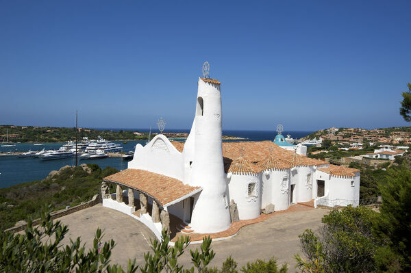 Stella Maris Church in Porto Cervo, Costa Smeralda, Sardinia, Italy