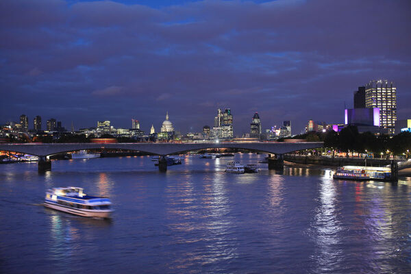 Waterloo bridge and River Thames, London, England