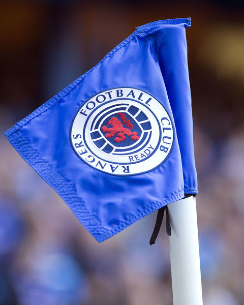A corner flag during the Ladbrokes Premiership match at Ibrox Stadium, Glasgow