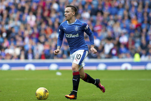 Rangers' Barrie McKay during the Ladbrokes Premiership match at Ibrox Stadium, Glasgow