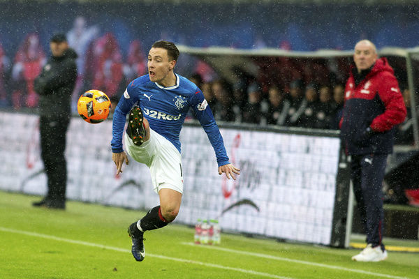 Rangers' Barrie McKay during the friendly match at the Red Bull Arena in Leipzig, Germany