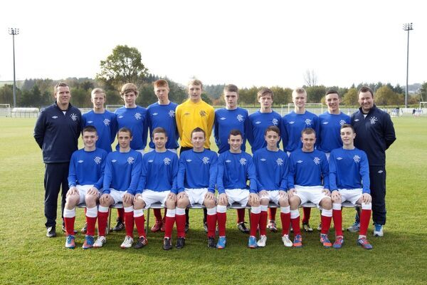 Back Row (L-R) Peter Dennison (GK Coach), Ross McCrorie, George Bowyer, Jason Krones, Robby McCrorie, Reagan Milne, Reece Duncan, Max Ashmore, Jack Gilmour, Craig Mulholland (Coach) Front Row (L-R) John Cunningham, Cameron Price, Jamie Brandon